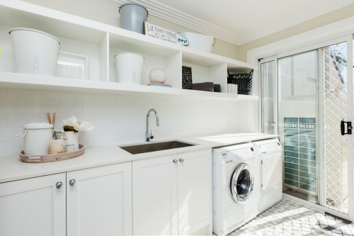 Ceasarstone Benchtops in Laundry Gold Coast