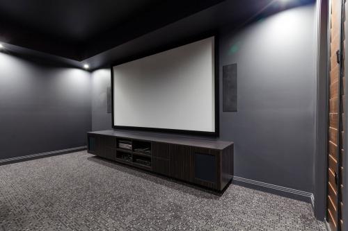 Custom media room cabinet
