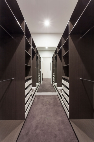 Walking wardrobe on the gold coast with soft close drawers