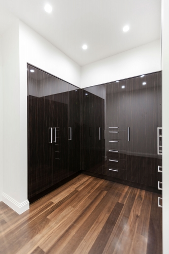 Custom made wardrobe with stainless steel handles - Gold Coast
